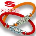 SORIENO(ソリエノ) カスタムブレスレット(シルバー) スポーツブレスレット 健康 ブレスレット