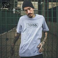 【TOISS】BOXボーダーロゴTシャツグレーネイマールブランド