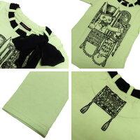 ALGONQUINSアルゴンキンシフォンリボン付きロングTシャツ[シルクハットラビット]AL24875