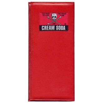 CREAMSODA cream soda plain fabric wallet [RED] PD15GS-17W