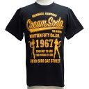 CREAMSODAクリームソーダ CS 1967ダブル立ちネコ TシャツPD15T-03