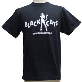 CREAMSODAクリームソーダ CS BLACK CATSロゴ TシャツPD19T-01