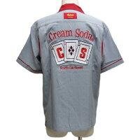 CREAMSODAクリームソーダCSトランプ刺繍シャツPD20SH-01【送料無料】
