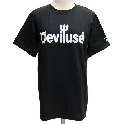 Deviluseデビルユース 半袖Tシャツ[ LOGO ]-DEVIL-1001