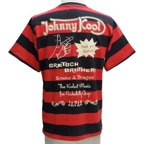 JOHNNY KOOLジョニークール ボーダー半袖Tシャツ[ GRETSCH BROTHERS ]JK-8103BT
