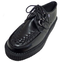 T.U.KVIVALOWSOLECREEPER[BLACKLEATHER]TUK-V6806【送料無料】