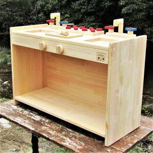 手作り 木製ままごとキッチン KBM-W(完成品です!) ・女の子 テ-ブルキッチン 木製 子供 木のおもちゃ ごっこ遊び 幼稚園 保育園  ままごとキッチン 手作り