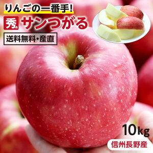 【送料無料】長野県産 りんご 10kg サンつがる 秀品 産地直送 葉とらずリンゴ 信州 お取り寄せ 旬の果物 ギフトにも