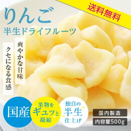 【国産】長野・信州産ドライフルーツりんご(ふじ)500g