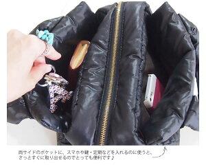 キルティングナイロントートバッグ軽量♪ナイロンバッグ好きにおすすめトートバッグ【マカロン】
