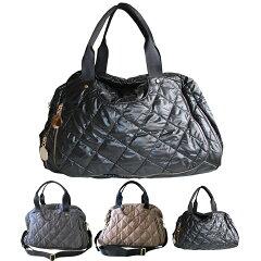 ママバッグ,人気,ナイロン,キルティング,かわいい,内側ヒョウ柄,マザーズバッグ,軽量,旅行バッグ,レディース【シャーロット】シャネル好きにおすすめトートバッグ