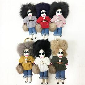 ファードールチャーム☆【Pupu】ププ ミンク リアルファー バッグチャーム ファー チャーム ドール型 ファー人形 キーホルダー 可愛い バッグ・小物・ブランド雑貨