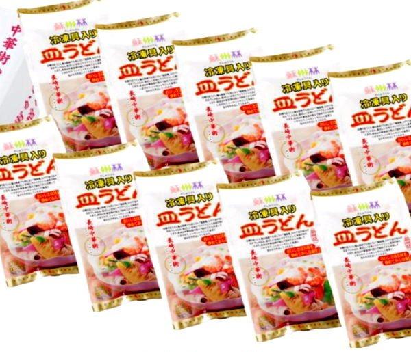 『全国無料配送』【長崎中華街 蘇州林】具入皿うどん10食
