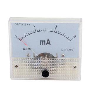 ソウテン DCアナログ電流計 85C1電流計 パネルメータ電流計 クラス2.5 DC 0-3mA