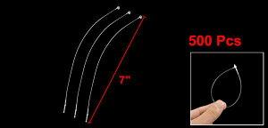 uxcell送料無料タグファスナー500本セット7インチー180mmプラスチックホワイトスナップロックピンセキュリティループ