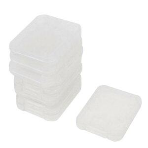 ソウテン カードの収納ボックス コンテナ 携帯電話のメモリーSDカード クリアホワイト ブラスチック 十個