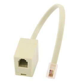 ソウテン uxcell RJ9電話アダプター コネクタ スプリッタカーキ プラスチック カーキ 4P4C オスーメス