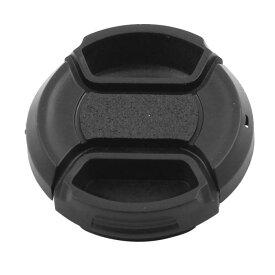 ソウテン uxcell レンズキャップ レンズキャップ・カバー デジタル・カメラ用 クリップ式 プラスチック 37mm直径 フロントスナップ コード付き 黒い