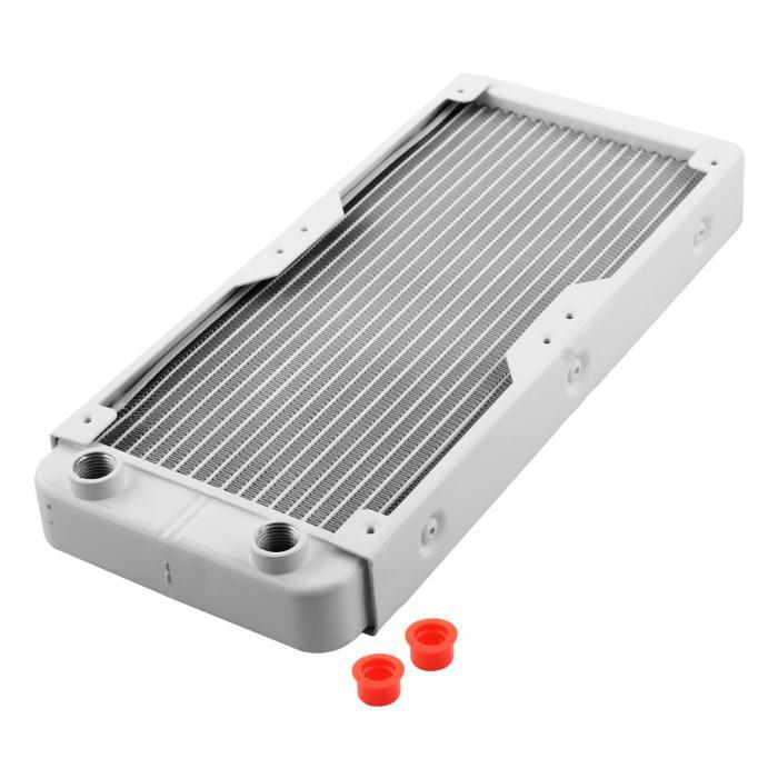 uxcell 送料無料 水冷ラジエーター 水冷熱交換器ラジエータ アルミニウム ホワイト 18パイプ 270mmの長さ