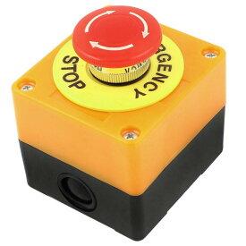 ソウテン uxcell プッシュボタンスイッチ 押しボタンスイッチ ステーション 緊急停止 1 NO 1 NC 660V 10A レッド 信号