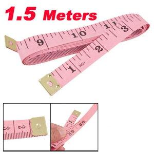 ソウテン ソフトテープメジャー 縫製テーラー定規 150cm/60 inch ピンク 携帯型 ソフトプラスチック
