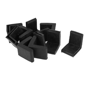 uxcell 椅子脚カバー 椅子足キャップ イス 足キャップ 椅子の足 キズ防止 騒音防止 アングルキャップ L字形 家具足用 ブラック ゴム製 40mmx40mm 10個セット