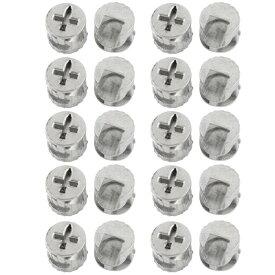 uxcell 家具継手 コネクター 家具カム 金属製 キャビネット用 シルバートーン 20個セット