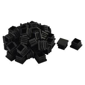 uxcell送料無料パイプキャップカバーテーブル椅子足プラスチック四角形ブラック19x19mm40個入り