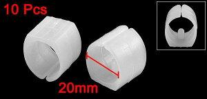 uxcell椅子脚カバー椅子足キャップイス足キャップ椅子の足キズ防止騒音防止家庭椅子パイプ足クランプパッドフロア滑走U型キャップホワイト20mm直径10個入り