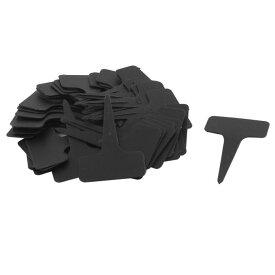 uxcell 植物用タグ 花壇 家庭 ガーデン プラスチック 長方形 シード用ラベル ブラック 50枚入り