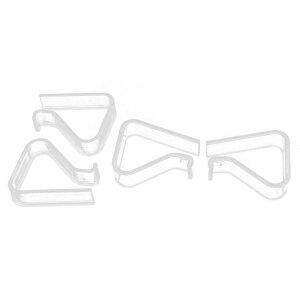 uxcell送料無料テーブルクロスクリップウェディングパーティーピクニッククリアカバー4個