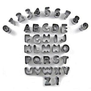 uxcell送料無料クッキー型英語アルファベット数形ビスケットクッキーフォンダン金型モールド1セット37個