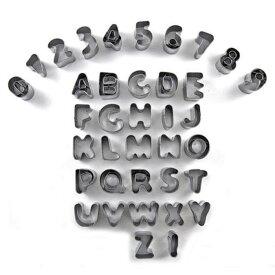 uxcell クッキー型 英語 アルファベット 数 形 ビスケット クッキー フォンダン 金型 モールド 1セット 37個