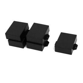 uxcell ジャンクションボックス 63mmx51mmx22mm ABSプラスチック ブラック 密閉電気ボックス 5個入り