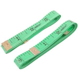ソウテン ソフトテープメジャー テーラーメジャー 縫製テーラー定規 150cm グラスファイバー 金属 ペールグリーン