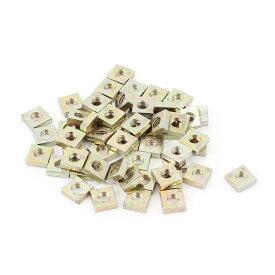 uxcell 四角板ナット 四角ナット マシンネジ 亜鉛メッキ 金属 M3x5.5x2mm 50個