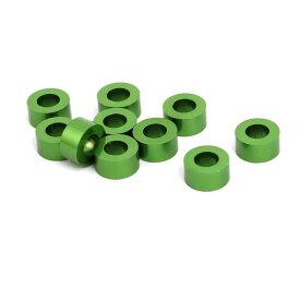 ソウテン uxcell フェンダーワッシャー アルミニウム合金 3mm 厚さ M3 グリーン 10枚入り