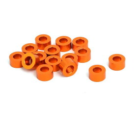 ソウテン uxcell ワッシャー 3mm 厚さ M3 オレンジ 15枚入り