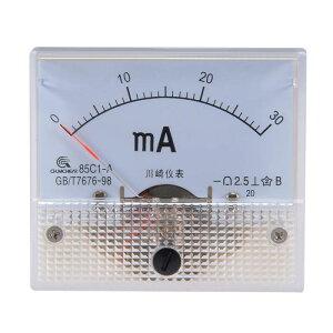 ソウテン アナログ電流計 電流パネルメーター 電流テストゲージ 85C1-A 30mA