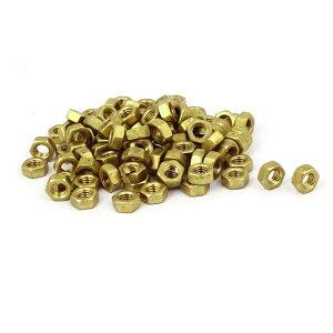 ソウテン 六角ナット M5 真鍮材料 高さ4mm 真鍮トーン 六角ヘッド めねじ 100個入り