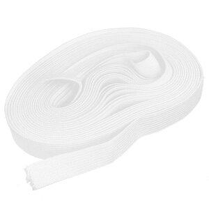 ソウテン ゴムバンド 弾性ストラップ ホワイト ポリエステル 伸縮性ファブリック 縫製テーラー用 6.4mx1.5cm