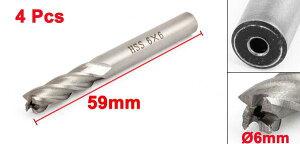 uxcell送料無料エンドミルカッター4個6mmx6mmx13mmx59mmHSS素材