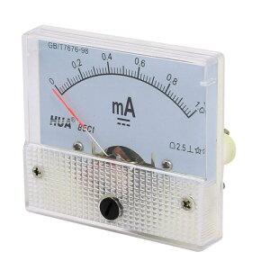 ソウテン アナログ電流計 電流測定 矩形 85C1 DC 0-1mA クラス2.5 プラスチック 金属