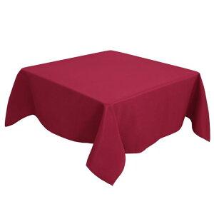 ソウテン PiccoCasa 正方形 テーブルクロス 汚れに強い しわになりにくい 結婚式 ピクニック用 ダイニング テーブルカバー 屋内 屋外 テーブル 140*140cm 赤