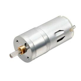 ソウテン 1500 RPM DCギヤードモータ マイクロギア 減速ギヤボックス 中心出力軸 25mm DC 12V