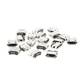 uxcell 20個入り メス型マイクロUSB タイプB 5ピン SMD SMTソケット 180度PCBジャックコネクタ