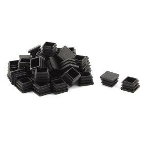 uxcell パイプキャップ オフィス プラスチック 四角形 テーブル 椅子 ブラック 20 x 20mm 40個入り