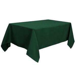 ソウテン PiccoCasa 長方形 テーブルロス 汚れに強い しわになりにくい 結婚式 ピクニック用 ダイニングテーブルカバー 屋内 屋外 グリーン 150*265cm