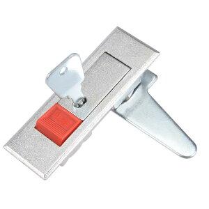 ソウテン キャビネットロック 電気 キャビネット ドアカムロック 厚さ4mmのパネルに適合 レッド プッシュボタン と キー MS603-1