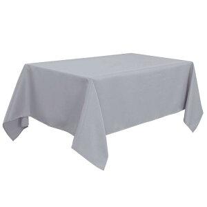 ソウテン PiccoCasa 長方形 テーブルロス 汚れに強い しわになりにくい 結婚式 ピクニック用 ダイニングテーブルカバー 屋内 屋外 グレー 150*265cm